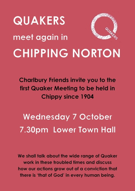 A4 Quakers in Chipping Norton - first time in 111 years - 7th Oct