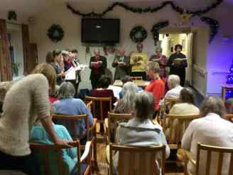 Carols with residents of Enstone House