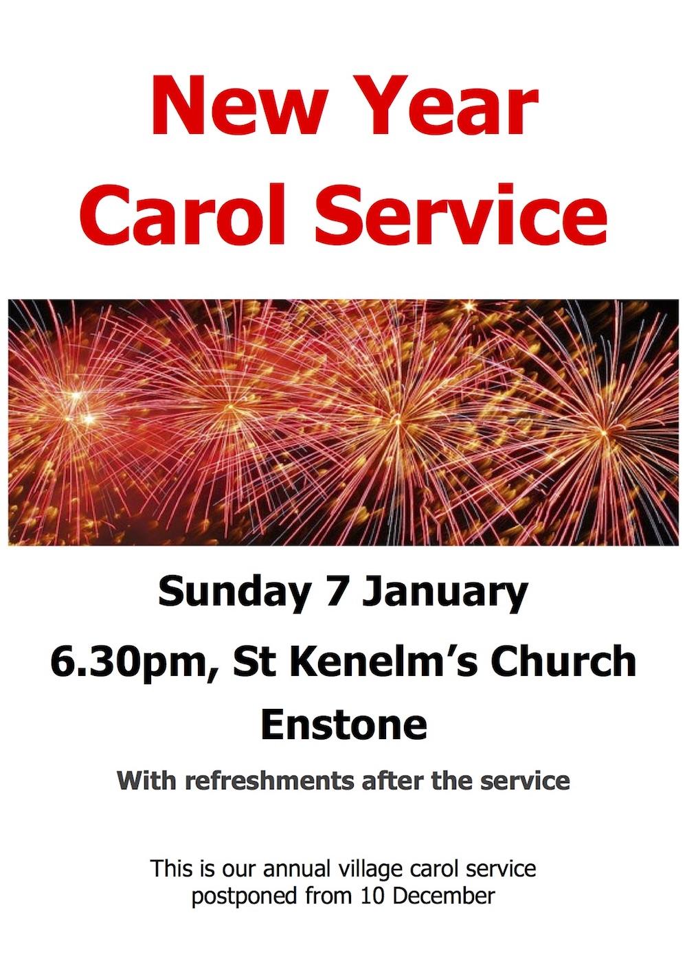 New Year Carol Service Jan 18