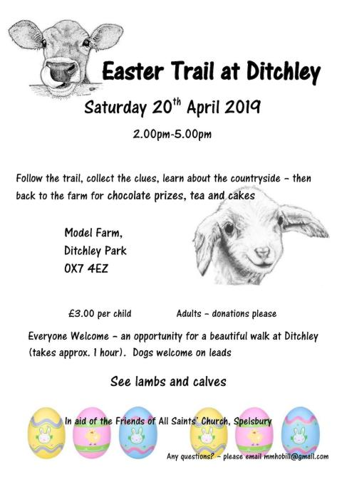 Easter Trail at Ditchley Park with pictures for Charlbury website