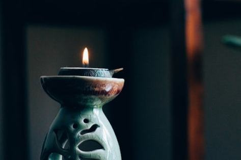 lit candle image